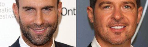 Adam Levine 'v' Robin Thicke