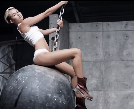 Miley Cyrus' 'Wrecking Ball' video