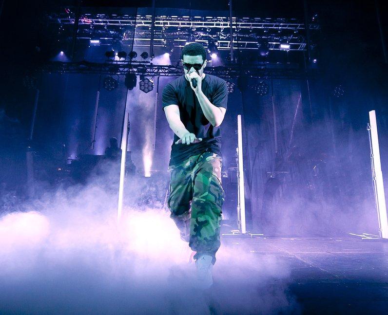 Drake live on stage