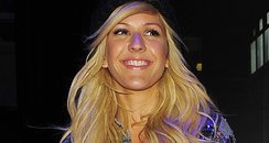 Ellie Goulding wearing a checked shirt