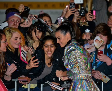 Katy Perry taking pictures with fans in Germany