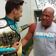 Liam Payne and Kurt Angle