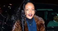 Rihanna wearing q fur coat
