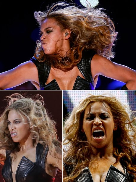 Beyonce Super Bowl faces