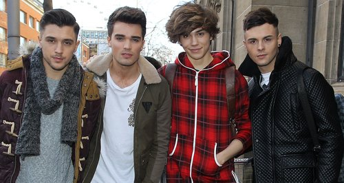 Union J in London with Josh wearing a onesie