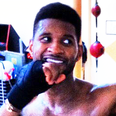 Usher at the gym