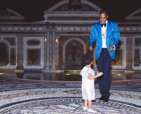 Jay Z and Blue Ivy dancing at her birthday