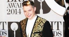 John Newman BRIT Awards 2014 Red Carpet