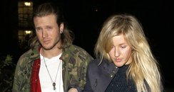 Ellie Goulding and Dougie Pointer leaving her hous