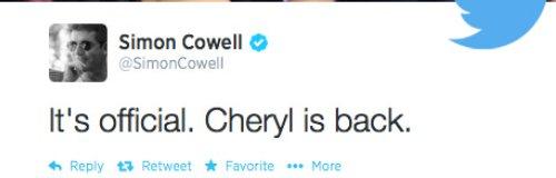 Cheryl Cole X Factor Return