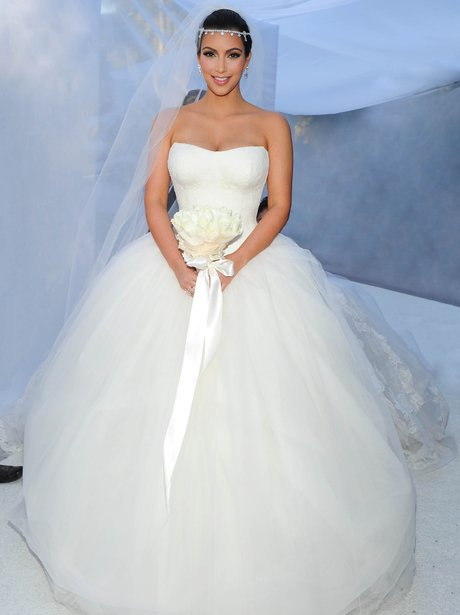 Kim Kardashian on her wedding day