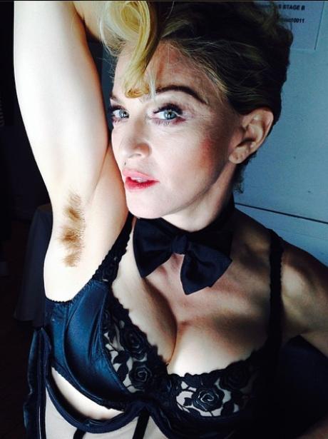 Madonna Hairy Armpits Instagram