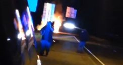 Miley Cyrus Tour Bus Fire - Instagram Video
