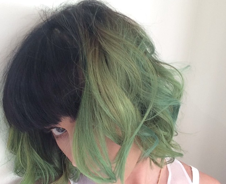 Katy Perry news green hair