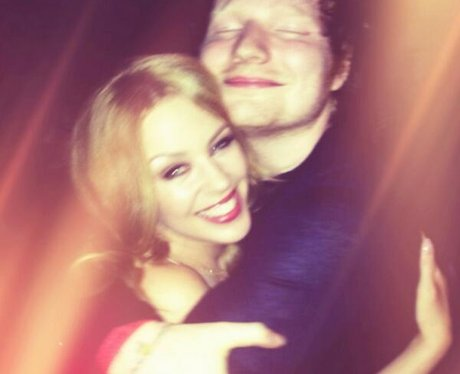 Ed Sheeran and Kylie hugging