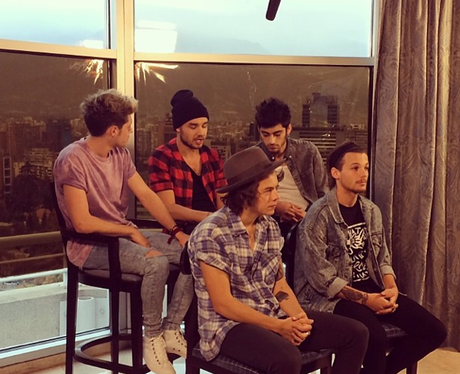 One Direction doing an interview