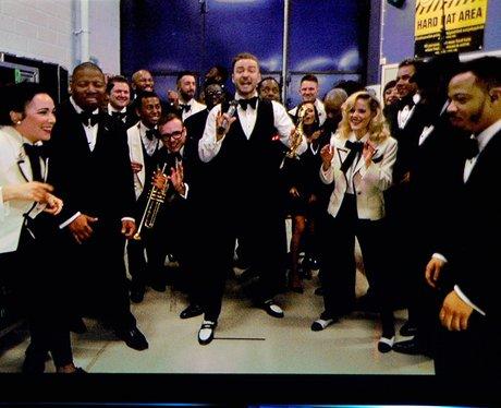 Justin Timberlake and his band