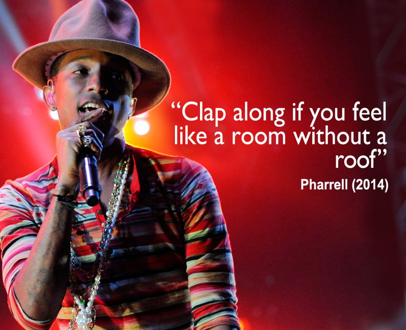 Pharrell happy lyrics clinic