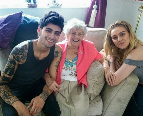 Zayn Malik wiTH perrie Edwards grandmother