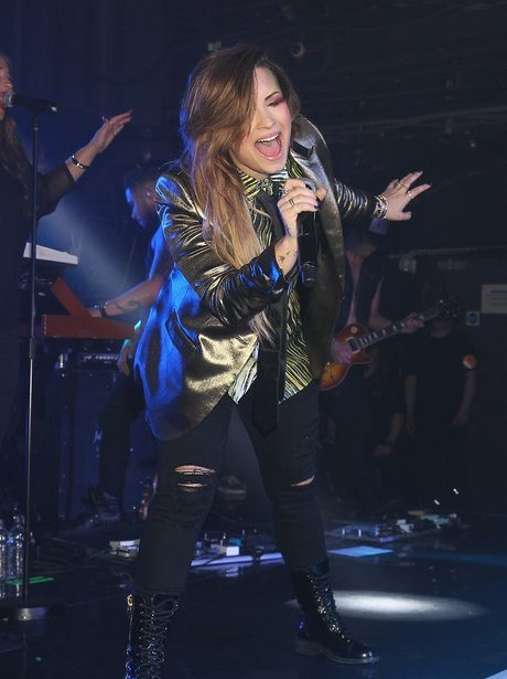 Demi Lovato performs live at GAY in London