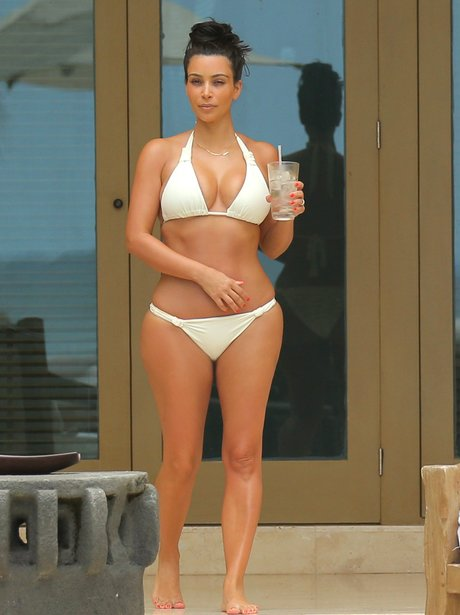 Kim Kardashian in a bikini in Mexico