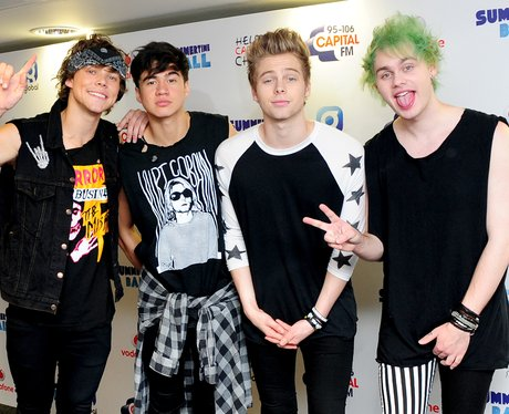 5 Seconds Of Summer Summertime Ball 2014 Arrivals