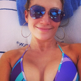 Jennifer Lopez wearing a bikini