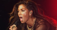 Nicole Scherzinger performs on stage at G-A-Y Heav