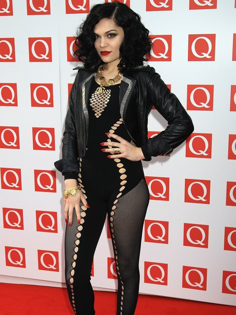 Jessie J in cut out outfit on red carpet