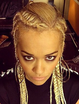 Rita Ora with braids