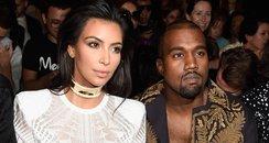 Kim Kardashian Kanye West Paris Fashion Week 2014