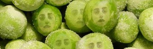 Lady GaGa Frozen Peas Smashing Together