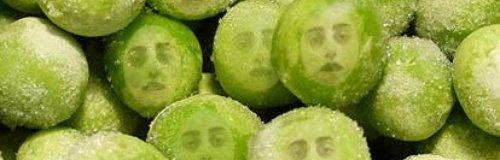 Lady GaGa Frozen Peas Smashing Together