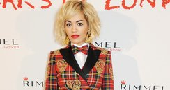 Rita Ora Checked Suit