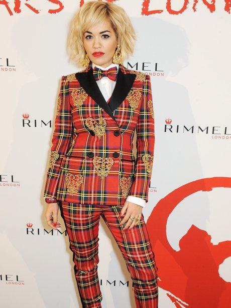 Rita Ora Checked Suit