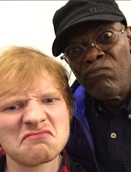 Ed Sheeran and Samuel L Jackson