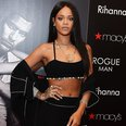 Rihanna wearing a crop top