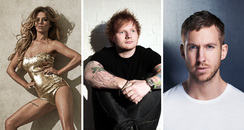 No.1 Contenders Big Top 40 Sheeran Cheryl Harris