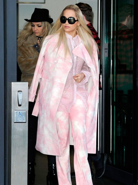 Rita Ora wears questionable Pink Outfit