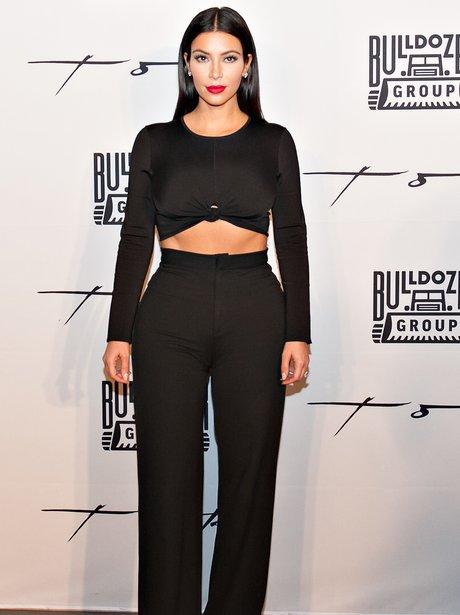 Kim Kardashian wearing an all black outfit