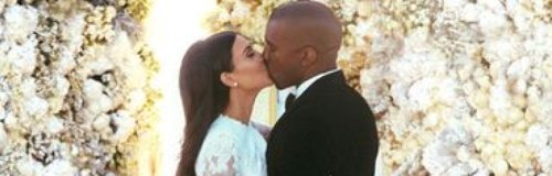 kim kardashian and kanye west wedding picture 2014