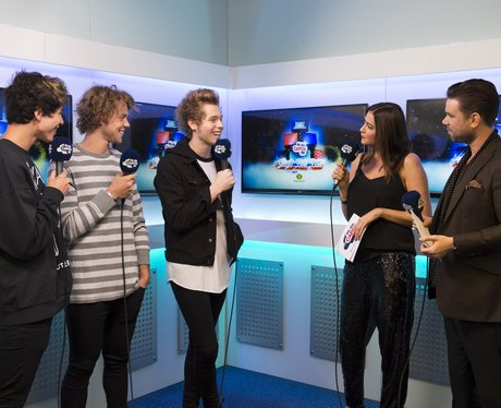 5SOS Backstage Jingle Bell Ball 2014