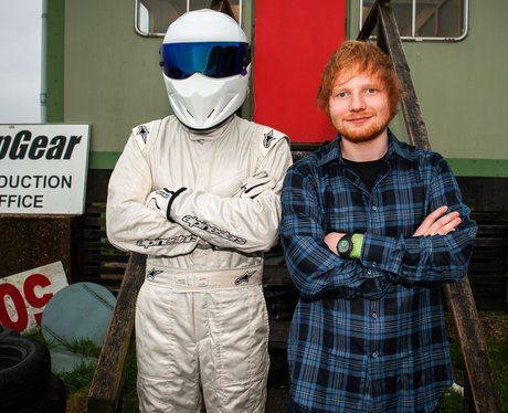 Ed Sheeran and The Stig on Top Gear