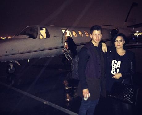 Demi Lovato and Nick Jonas Jet