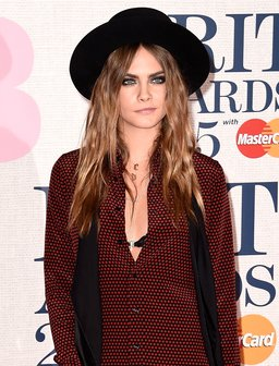 Cara Delevingne at The Brit Awards 2015