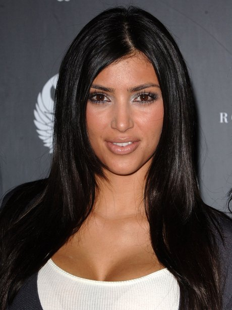 Back in the day kim kept it more simple with mid length brunette cut