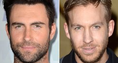 Adam Levine and Calvin Harris