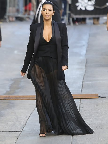 Kim Kardashian See-Through Skirt