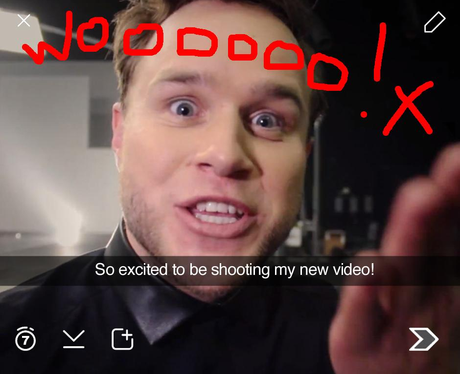 Olly Murs Snapchat 1 (not real)