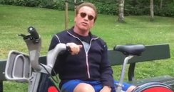 Arnold Schwarzenegger on Boris Bike London